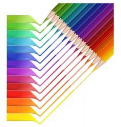 pencil rainbow vector image vector image