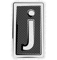 Polka Dot Font LETTER j vector image vector image