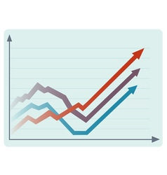 Rising statistics vector image vector image
