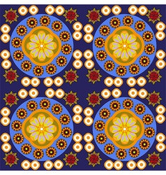 Round flowers digital background pattern vector