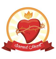 Sacred heart jesus christ image vector