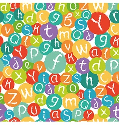 Seamless pattern - funny english alphabet vector image vector image