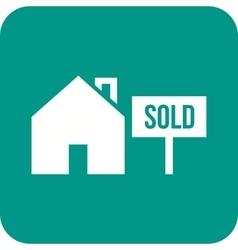 Sold signboard vector