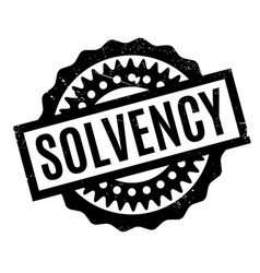 Solvency rubber stamp vector