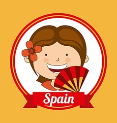 spain kid vector image