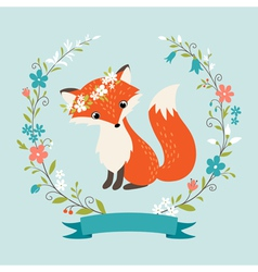 Summer fox vector image vector image