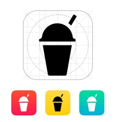 Takeaway cup icon vector