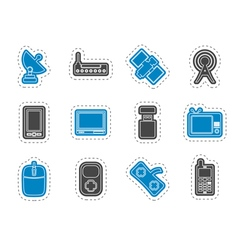 technology and Communications icons vector image vector image