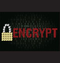 Text encrypt security concept vector