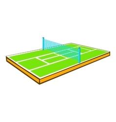 Tennis court icon cartoon style vector