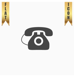 Office telephone - icon isolated vector