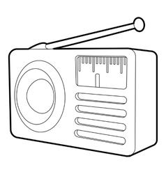 Retro radio receiver icon isometric 3d style vector