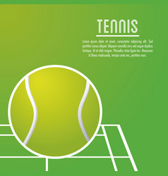 Ball and league of tennis sport design vector