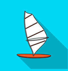 windsurf board icon in flate style isolated on vector image
