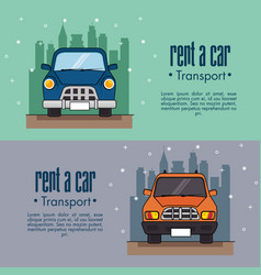 Rent a car infographic vector