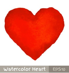 Red watercolor heart vector