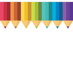 Lots of colored pencils vector