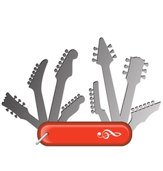 Swiss knife guitars vector
