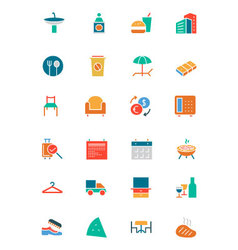 Hotel and restaurant colored icons 8 vector