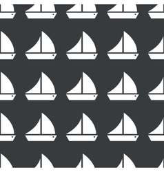 Straight black sailing ship pattern vector