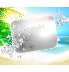 Summer beach wallpaper vector