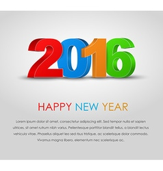 Poster happy new year 2016 vector