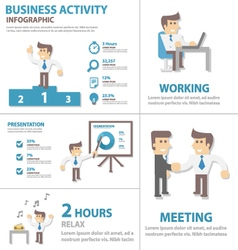 Business activity infographic elements vector