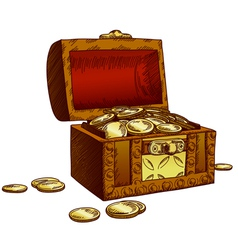 old chest vector image