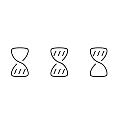 Hourglass wait set icons vector