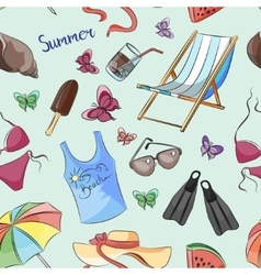 Pattern of summer symbols vector image