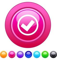 Mark circle button vector image