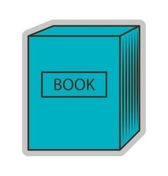 Blue set of books graphic vector