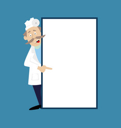 a medical doctor and a blank banner vector image
