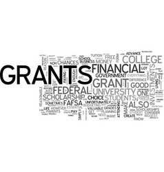 A students guide to federal grants text word vector