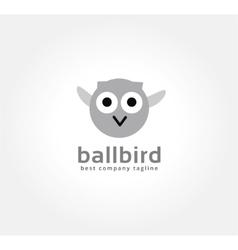 Abstract cartoon owl logo icon concept Logotype vector image vector image