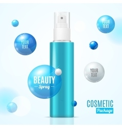 Beauty spray can package essence bottle vector