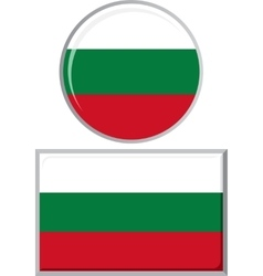 Bulgarian round and square icon flag vector