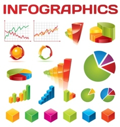 colorful infographic collection vector image vector image