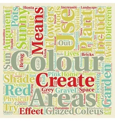 Colour in the garden text background wordcloud vector