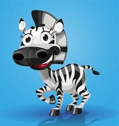 Cute cartoon character baby zebra vector image vector image