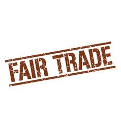Fair trade stamp vector