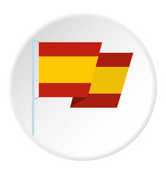 Flag of spain icon circle vector