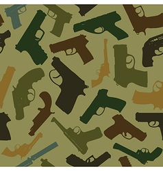 Guns seamless pattern vector