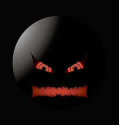 halloween evil face with a toothy maw lighting vector image vector image