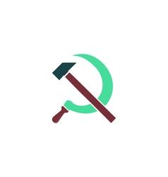 Hammer sickle Icon vector image