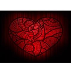 heart doodle background vector image