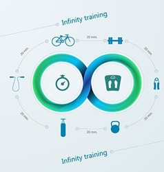 Infographic for training with mobius stripe vector