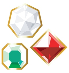 Jewels icons vector image