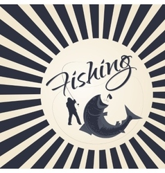 logo sport fishing vector image