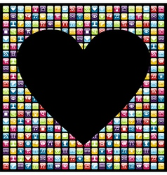 Love phone application background vector image vector image